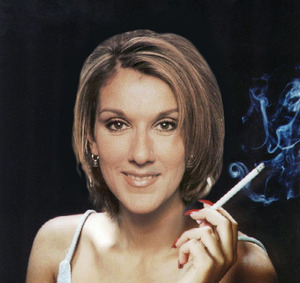 celine dion smoking